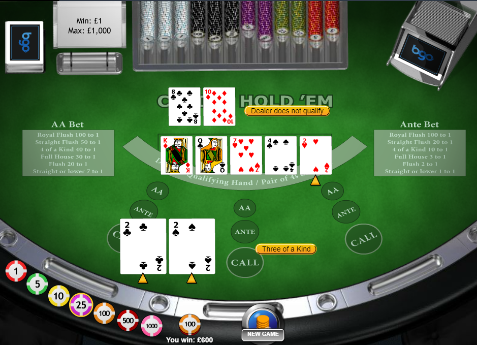 Покерный стол онлайн