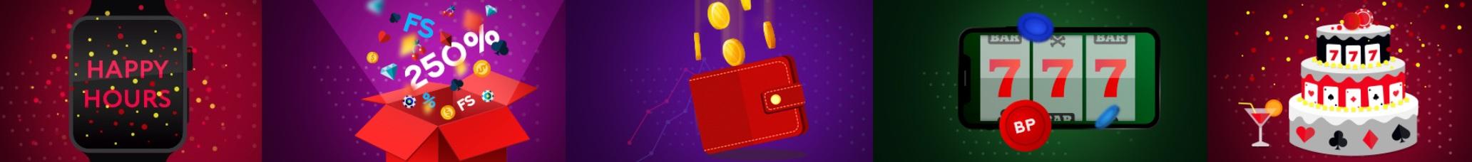 Бонусы в казино Mr. Bit