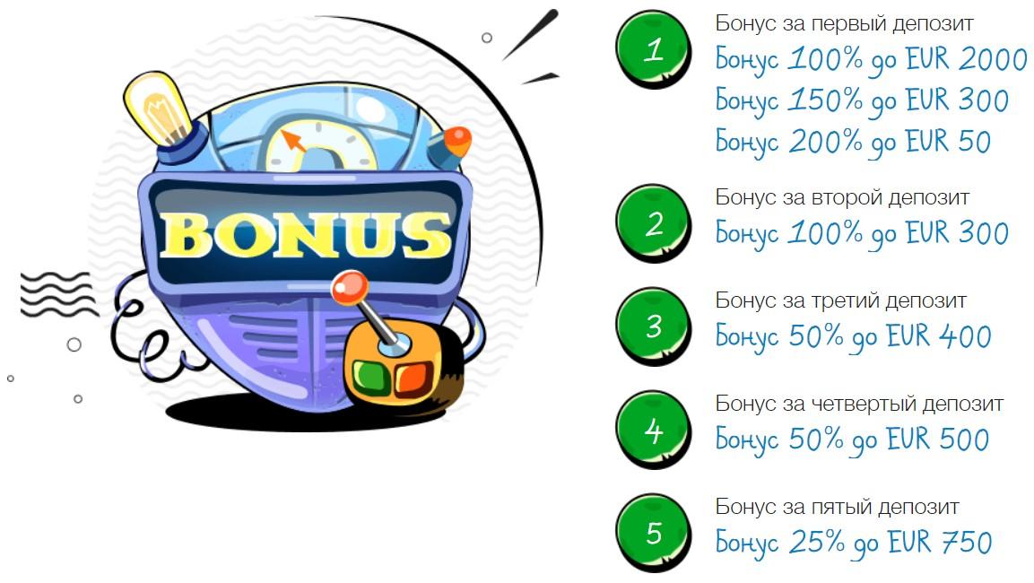 Бонус за первый депозит от Casino - X