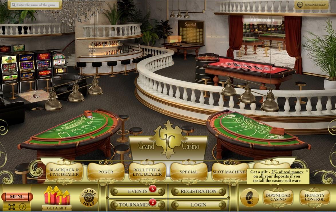 Главная страницв Grand Casino